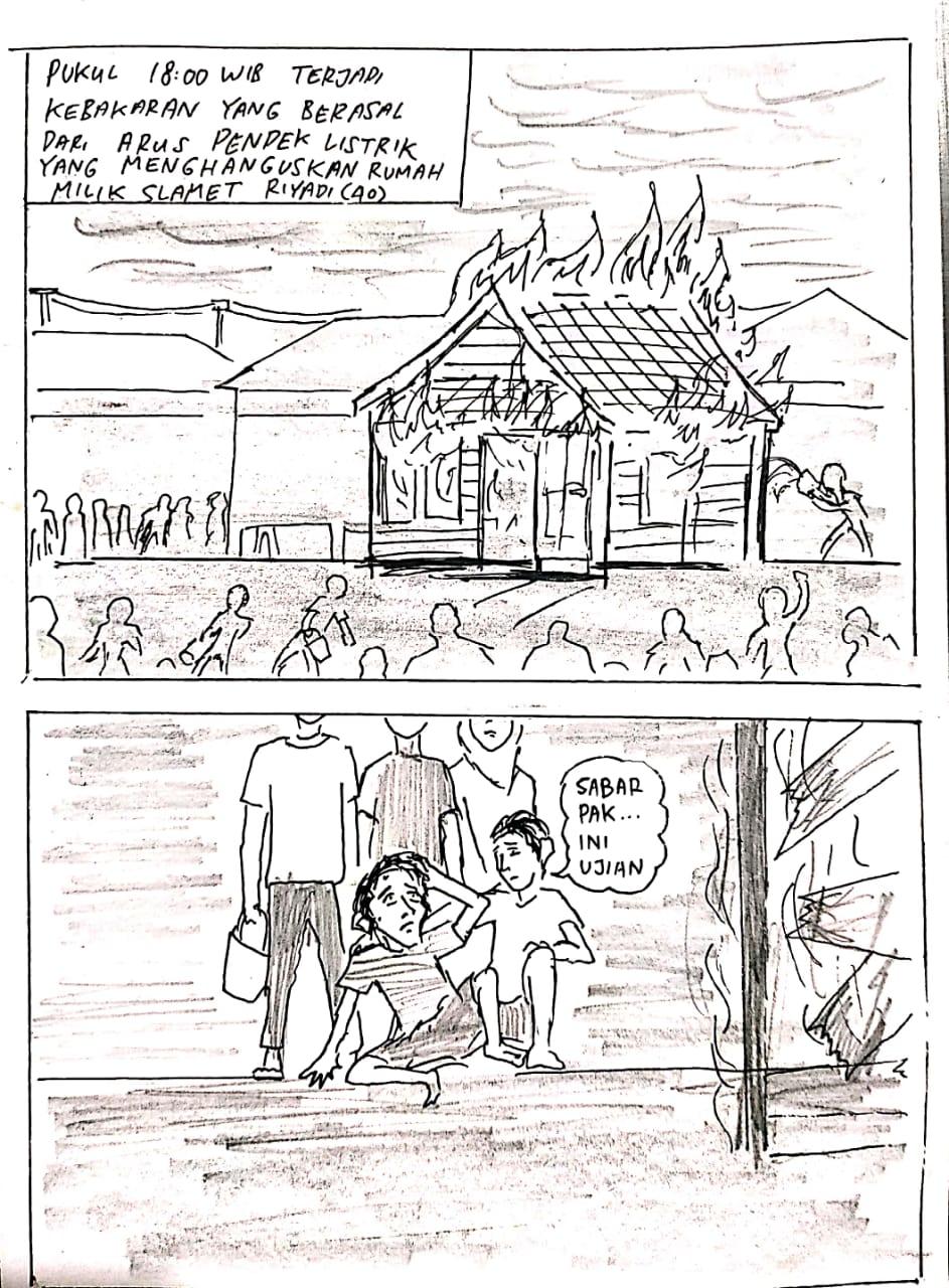 Temui Korban Kebakaran